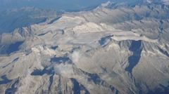 Overflying of what remain of the glaciers of the Adamell and Lobbia area. Stock Footage