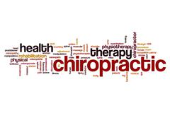 Chiropractic word cloud Stock Illustration