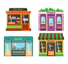 Shop facade vector illustration Stock Illustration