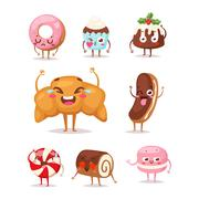 Sweet emotion vector character Stock Illustration