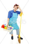 Unhappy Housekeeper Stock Photos