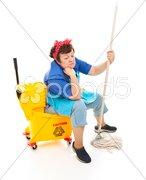 Depressed Housekeeper Stock Photos