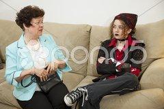 Parent Child Argument Stock Photos