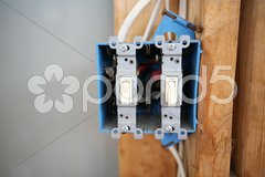 Two Gang Switch Box Stock Photos
