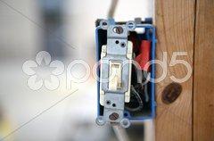 Single Pole Light Switch Stock Photos
