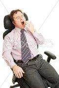 Bored Sleepy Businessman Stock Photos