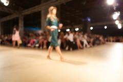 Fashion runway out of focus. The blur background Stock Photos