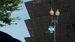 African American Museum south west corner signs Stock Footage