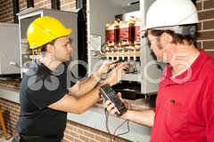 Repairing Power Distribution Center Stock Photos