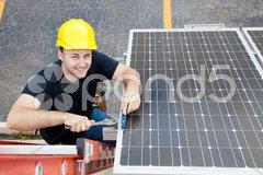 Green Jobs - Renewable Resources Stock Photos