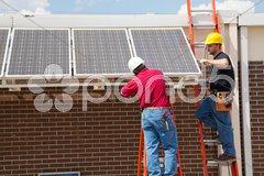 Installing Solar Panels Kuvituskuvat