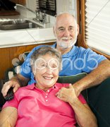 Relaxing in the RV Stock Photos