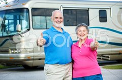 RV Seniors - Happy Retirement Stock Photos