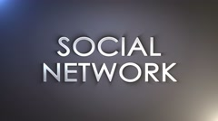 Social Network Keywords Background, Loop, 4k Stock Footage