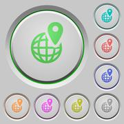 GPS location push buttons Stock Illustration