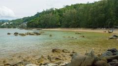 Coast of Andaman Sea on Phuket Island Stock Footage