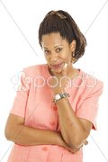 Beautiful Businesswoman - Skeptical Stock Photos