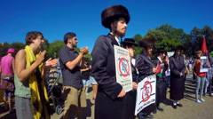 Neturei Karta protests against Zionism Stock Footage