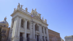 Basilica of St. John Lateran Stock Footage