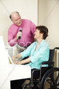 Musicians with Disability Stock Photos