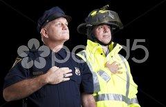 Heroes Pledge of Allegiance Stock Photos