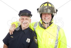 Blue Collar Heroes Isolated Stock Photos