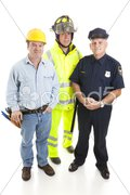 Group of Blue Collar Workers Stock Photos