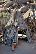 Damara cultural village Stock Photos