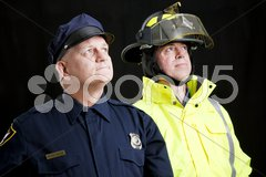 Blue Collar Heroes Stock Photos