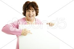 Cross Dresser with Sign Stock Photos