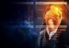 Sales analysis and report Stock Photos