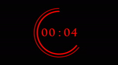 Countdown from 10 till 0 with neon frame Stock Footage