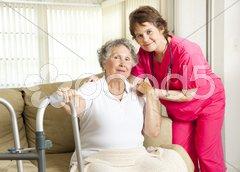 Nursing Home Care Stock Photos