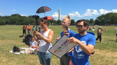 LGBT community protests guns Stock Footage
