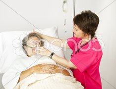 Oxygen Mask in the Hospital Stock Photos