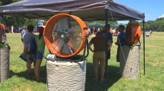 Outdoor fan in the summer Stock Footage