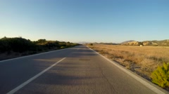 Drivers View on a ocean road (coastal highway) in Greece. (Part 3/3) Stock Footage