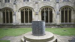 Cloister garden England Stock Footage