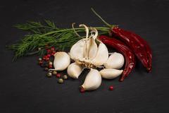 Seasoning ingredients for cooking Stock Photos