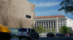 African American Museum east facade Stock Footage