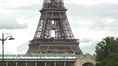 Lower part of Eiffel tower. Stock Footage