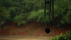 Wind Chimes in Rain Stock Footage