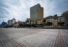 Buildings near Chiang Kai-Shek Memorial Hall in the Zhongzheng District, of T Stock Photos