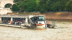 Boat with passengers. Stock Footage