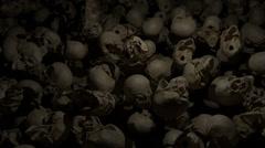 Flyover a sea of Skulls Stock Footage