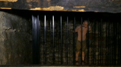 Torture chamber at the Corvin Castle, Hunedoara, Romania Stock Footage