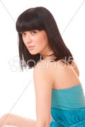 Portrait of a fresh and lovely woman Stock Photos
