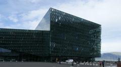 Harpa concert hall, Reykjavik, Iceland, 4k Stock Footage