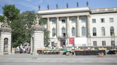 Humboldt University on Unter den Linden Stock Footage