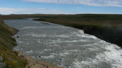 Hvida river and Gullfoss waterfall, Iceland, 4k Stock Footage